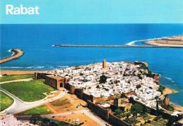 RABAT - Vue Aérienne Sur La Kasbah Des Oudaïas / Aerial View Over Oudaïas' Casbah - TBE, Carte Neuve, 2 Scans - Rabat