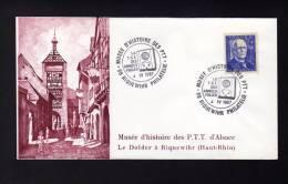 1x Lettre Avec CàD 68 RIQUEWIHR PHILATELIE La TSF Des Années Folles MUSEE D'HISTOIRE DES PTT 1987 Branly - Réf A955 - Storia Postale