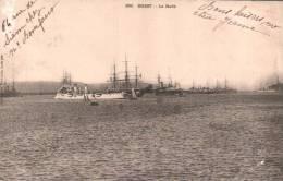 29 BREST LA RADE CARTE PRECURSEUR CIRCULEE 1903 - Brest