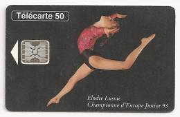 F423 Elodie Lussac  Décalage Du Verso De 6 Mm Sur La Droite - France
