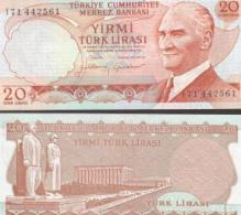 Turkey #187b, 20 Lira, L.1970, UNC / NEUF - Türkei