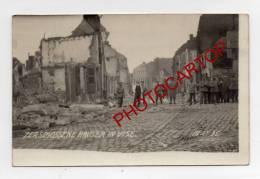 DESTRUCTIONS-VISE-CARTE PHOTO Allemande-Guerre 14-18-1WK-BELGIQUE-BELGIEN- - Visé