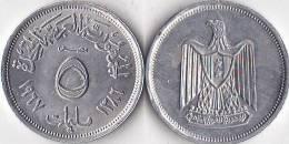 EGYPTE * 5  Milliemes  AH1386 - 1967 - UNC     *  EGYPT - Egypte