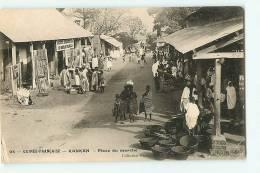 KANKAN : Société Commerciale Du Soudan Français, Place Du Marché. 2 Scans. Edition James - French Guinea