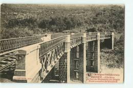 Guinée : Pont Courbe De Dunkea, Chemin De Fer De Konakry Au Niger. 2 Scans. Edition Fortier 722 - French Guinea