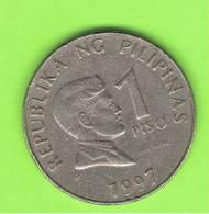 FILIPINAS - PHILIPPINES -  1 Piso 1997  KM269 - Filipinas