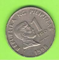 FILIPINAS - PHILIPPINES -  1 Piso 1998  KM269 - Philippines