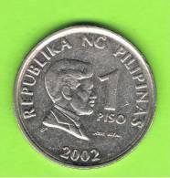 FILIPINAS - PHILIPPINES -  1 Piso 2002   KM269 - Filipinas