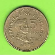 FILIPINAS - PHILIPPINES -  5 Piso  2003   KM272 - Filipinas