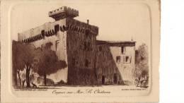 CAGNES SUR MER -  LE CHATEAU -  Gravure De Charles JAFFEUX - Engravings