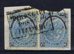 Italy: E1865 Sa 23 Ann. Piroscafi Postali Italinai, On Paper, Pair Of 2 Stamps - 1861-78 Vittorio Emanuele II