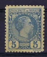 Monaco 1885, Mi 3, MH/* - Ungebraucht