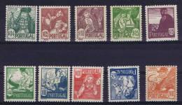 Portugal: 1941, Mi 632-641, MNH/**  , 1,75 Has A Gum Fold - 1910-... Republiek