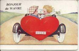 Bonjour De WAVRE : Superbe CPA à Système - Illustrateur John Wills -  Cachet De La Poste 1939 - Florenville
