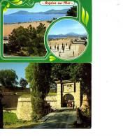 66 LOT 2 CARTES  ARGELES  MONTLOUIS  ENTREE DE LA CITE FORTIFIEE DE VAUBAN PERSONNAGES - Francia