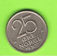 NORUEGA - NORWAY -  25 Ore 1977  KM417 - Noruega