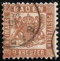 ALEMANIA 1862/64 (BADEN) - Yvert #19 - VFU - Baden