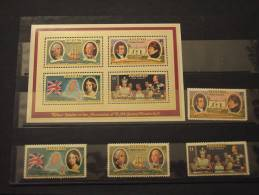 AITUTAKI - 1977 SILVER JUBILEE 4 Valori + BF - NUOVI(++)-TEMATICHE - Aitutaki