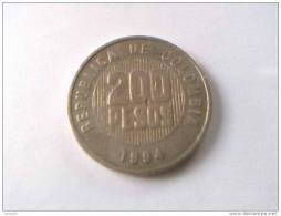 COLOMBIE - 200 PESOS 1994 - - Colombia