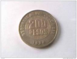 COLOMBIE - 200 PESOS 1994 - - Colombie
