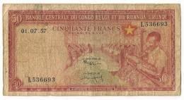 AFRIQUE / CONGO BELGE - 50 FRANCS 1957 - Congo