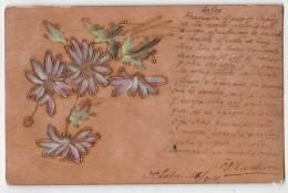 Wood Carved Postcard Ca1900 Flowers OPF  Vintage Original Postcard Cpa Ak (W3_1683) - Altri