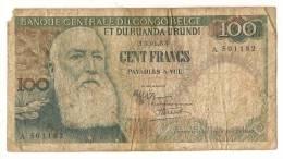AFRIQUE /  CONGO BELGE - 100 FRANCS 1955 - Congo
