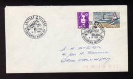 Lettre Avec CàD 68 RIQUEWIHR PHILATELIE Lettre Z'ailées Par Avion Du 08/04/1995 Poste Aérienne - Réf A1017 - Storia Postale