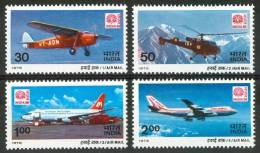 1979 India Aerei Aircraft Avions Set MNH** NU158 - Nuovi