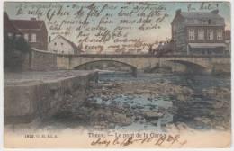 17944g PONT De La GARE - Theux - 1907 - Colorisée - Theux