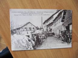 CPA U1 -  PEIRA-CAVA - (ALPES MARITIMES) - Entrée Du Village En Hiver - Gros Plan Automobiles - Animation - Non Classés