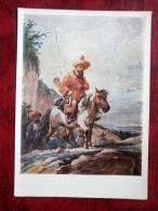 Painting By A.O. Orlowski, 1817  - Kirghiz Horseman - Art - Postcard Printed In 1957 - Russia - USSR - Unused - Peintures & Tableaux