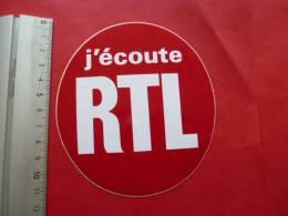 Autocollant Publicite  RADIO  RTL  J Ecoute - Autocollants