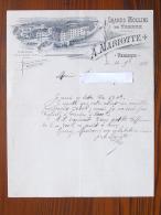 VEREUX (70): Lettre à En-tête 1901  Grands Moulins De VEREUX - MARIOTTE A. - France