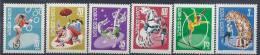 1969 ROUMANIE 2480-85**  Cirque, Cheval, Tigre - 1948-.... Repubbliche