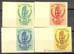 ES851-L2143TEO.España.Spain  Espagne. ANIVERSARIO ALZAMIENTO (Ed 851/4s**).CERTIFICADO..LU JO - España