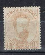 Sello 40 Cts Amadeo 1872, Num 125 * - Ungebraucht