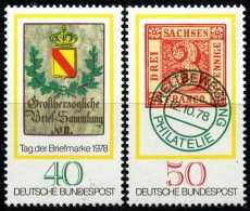 BRD - Michel 980 / 981 Einzeln - ** Postfrisch (A) - Tag Der Briefmarke 78 - [7] West-Duitsland