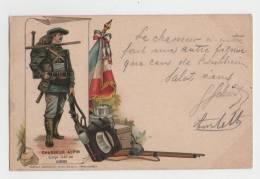 CPA - Colorisée - Chasseur Alpin - Corps Créé En 1888 - BISCHHEIM (Alsace) -Guerre 14-18 - 1914-18