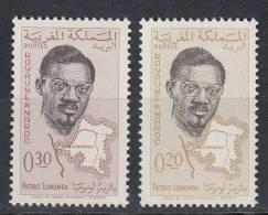 MAROC 1962.YVERT Nº 429/430.PATRICE LUMUMBA . NEUF AVEC CHARNIÈRE. COL.12 - Maroc (1956-...)