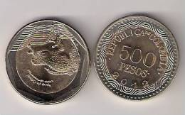 Colombia  500 Pesos 2012. UNC Bimetal Bimetallic - Colombia