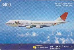 Télécarte Japon - AVION / JAL - Airplane Airline Airlines Japan Prepaid Phonecard - Flugzeug Telefonkarte - 422 - Avions