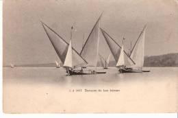 """Barques Du Lac Léman-voilier -voiliers-1906- Oblitération""""Chaux De Fonds""""( Scan)-Timbre Suisse YT 66-Edit. Julien Genève - GE Genève"""