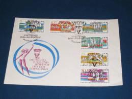 FDC DDR Ersttagsbrief Deutschland 1969 5 Deutsches Turn Und Sportfest In Leipzig Turnen Sport Leichtathletik - FDC: Covers