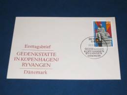 FDC DDR Ersttagsbrief Deutschland 1969 Internationale Mahn Und Gedenkstätten Ryvangen Dänemark Denmark - FDC: Briefe