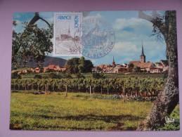 CARTE MAXIMUM MAXIMUM CARD EGLISE DE MITTELBERGHEIM FRANCE - Cartoline Maximum