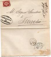 LETTERA CON ANNULLO SPILIMBERGO  PORDENONE - 1861-78 Vittorio Emanuele II