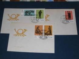 FDC DDR Ersttagsbrief Deutschland 1976 Staatliche Museen Berlin Kunst Bronzeplastiken - FDC: Covers
