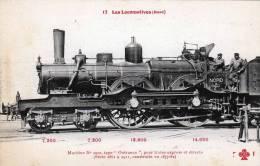 "Ansichtskarte : 1900-1930, LES LOCOMOTIVES (Nord) - Type ""Outrance"" - Construit 1877-82 - Eisenbahnen"