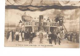 C P A --LE TOUR DU MONDE EN 80 JOURS--le Pont Du Steamer--voir 2 Scans - Spectacle